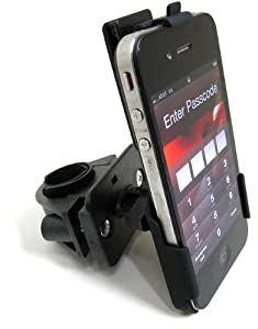 ChargerCity Perfect Fit OEM Motorcycle Bike Bicycle handlebar Mount for Apple IPhone 4 4s s Smartphones (Fits handle bars from .75