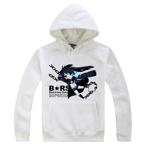BRS Black Rock Shooter Cosplay Costume White Hoodie Size L
