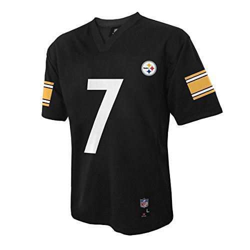 Ben Roethlisberger Pittsburgh Steelers #7 Black NFL Infants Home Replica Jersey