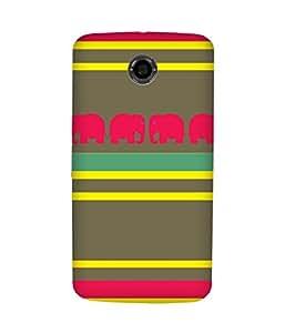 Stripes And Elephant Print (17) Motorola Nexus 6 Case