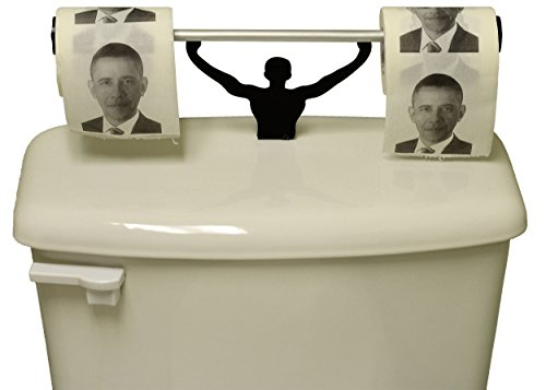 Fairly Odd Novelties Barack Obama Toilet Paper with Strong Man Holder Obamacare Gift Set