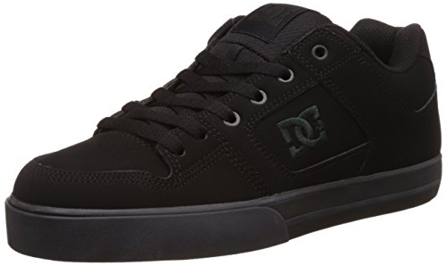 DC Men's Pure Skate Shoe, Black/Pirate Black, 12 M US