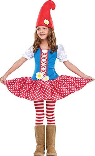 Gnome Girl Toddler Costume 3T-4T - Toddler Halloween Costume (Gnome Girl Costume For Toddlers)