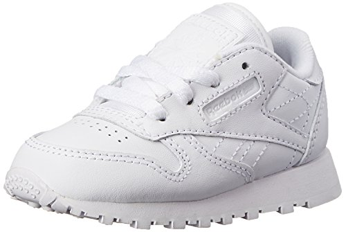 Reebok Classic Leather Shoe,White/White/White,5 M US Toddler