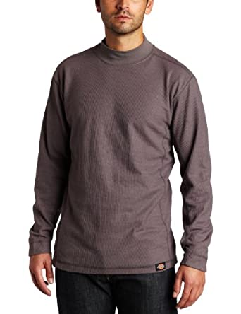 Buy Dickies Mens Long Sleeve Performance Waffle Knit Mock Neck Tee by Dickies