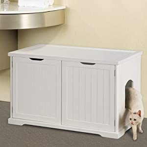 Cat Bench Litter Box Enclosure