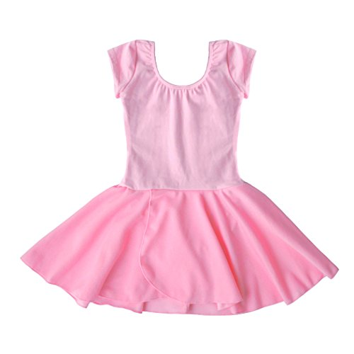 Dancina-Girls-Classic-Leotard-Dress-Short-Sleeve-Cotton-and-Spandex-4-Pink
