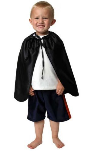 "Kids Satin 20"" Black Cape"