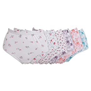 Womens/Ladies Patterned Underwear Briefs (Pack of 6)