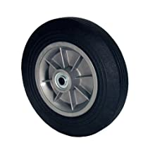 "RWM Casters SN2 Hand Truck Wheel with Solid Rubber Tire and Polypropylene Hub, 8"" Diameter, 2"" Width, 5/8"" Axle Hole Diameter, 440 lb. Capacity"