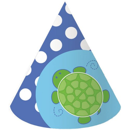 Creative Converting Mr. Turtle Birthday Party Hats, 8-Count