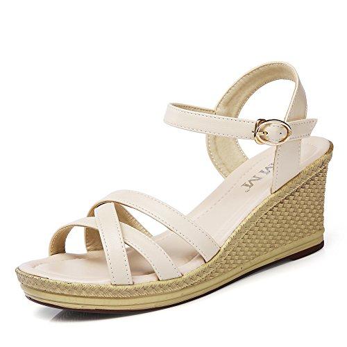 Sandals, Sandali donna, (A), Lunghezza 22.8 cm (9Inch)