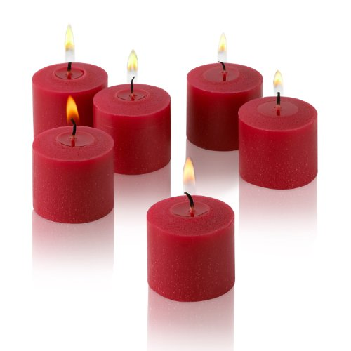 Unscented Votive Candles (Set of 36) Color: Red