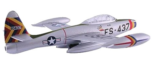 F-84 Thunderjet Night Take Off USAF Fighter/Bomber Aircraft Built-Up Die Cast 1-100 Model Power