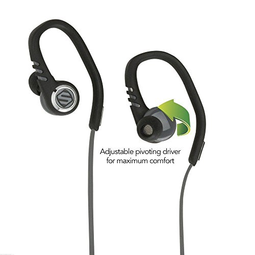 Scosche sportCLIPS 3 Sport Earbuds With Adjustable Pivoting Drivers, tapIT Remote and Mic (Bluetooth Phone Accesories compare prices)