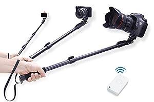 dreamgadget wireless remote selfie stick extendable camera shooti. Black Bedroom Furniture Sets. Home Design Ideas
