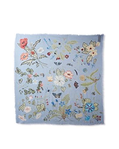 Gucci Women's Floral Scarf, Blue Multi