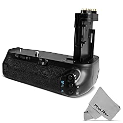 Vivitar BG-E16 Battery Grip for Canon EOS 7D Mark II DSLR Camera (Canon BG-E16 Replacement) + MagicFiber Microfiber Cleaning Cloth