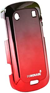 Fonokase Metallic Case for Blackberry 9900 (Red-Black)