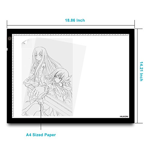 Huion 23.5 Inch Tatoo Tracing Light Table LED Light Box - A3