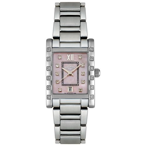 Rotary Women's RLB00016/07 Rocks Collection Diamond Stainless Steel Watch