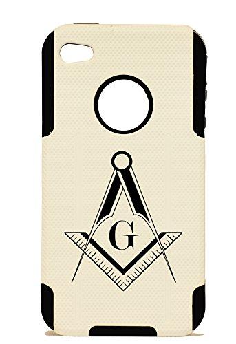 Iphone 4 Freemason Plastic & Silicone Case - Lifetime Warranty (Black)