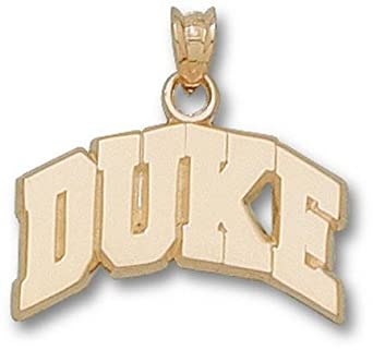 Duke Blue Devils Arched Duke Pendant - 14KT Gold Jewelry by Logo Art
