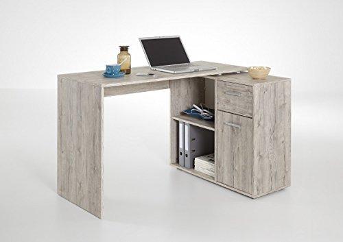 dreams4home schreibtisch 39 roxi 39 tisch b rotisch 2 offene f cher 1 t r 1 schubkasten bxhxt. Black Bedroom Furniture Sets. Home Design Ideas