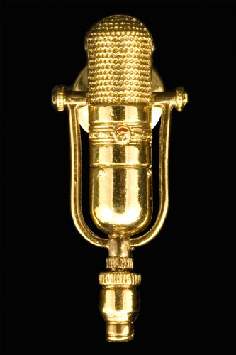 77D Microphone Pin - 24K Gold Plated