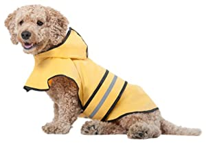 Fashion Pet Rainy Days Slicker Yellow Raincoat, Large