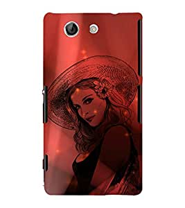 Marvellous Girl Design 3D Hard Polycarbonate Designer Back Case Cover for Sony Xperia Z4 Mini :: Sony Xperia Z4 Compact