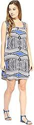 AVIRICH Women's Dress (Blue, S)