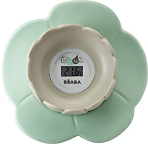 Beaba Nenuphar Lotus Flower Baby Digital Bath and Nursery Room Thermometer Mint Gift for MOM