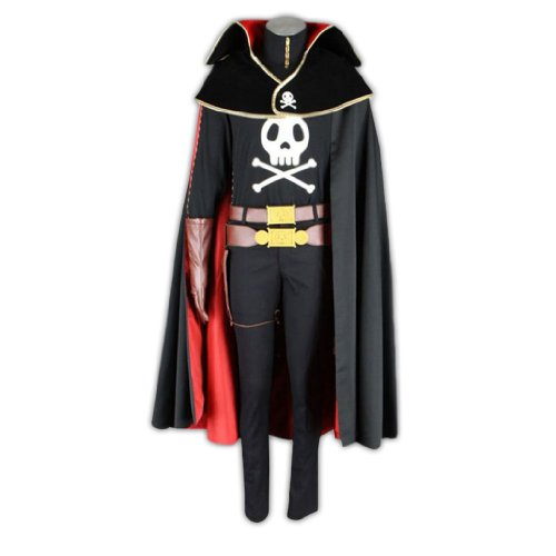 Ginga Tetsudou 999 Cosplay Costume -Captain Harlock Medium