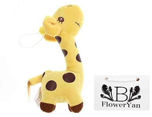 BFlowerYan Baby Kid Children Colorful Soft Plush Dear Giraffes Animal Stuffed Doll Toy Gift (Yellow)