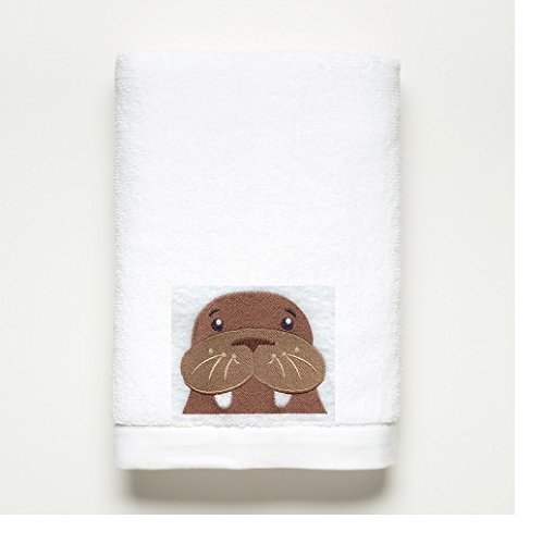 WALRUS ~ Embroidered Bath Towel ~ 100% Cotton