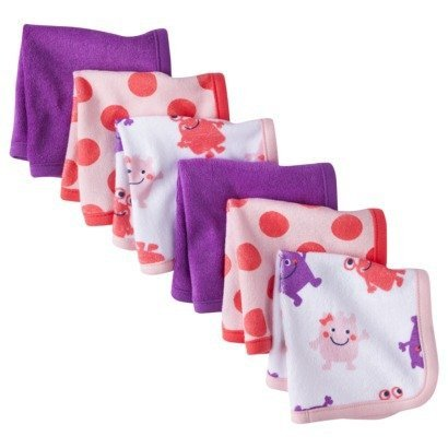 Carter's Just ONE YOU Newborn Girls 6 Piece Washcloth Set - Pink - 1