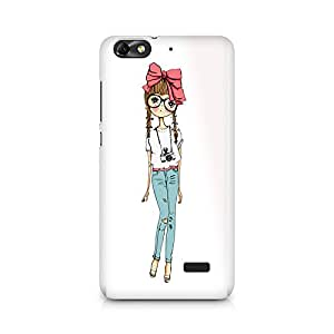 Mobicture Girl Abstract Premium Printed Case For Huawei Honor 4C