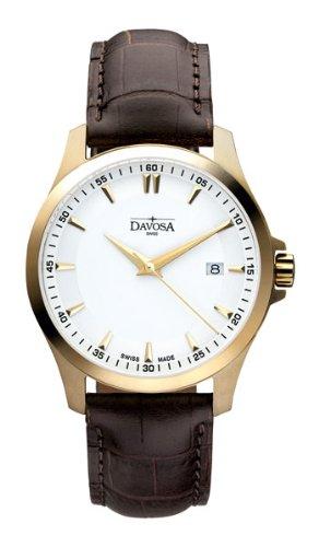Davosa - 16246715 - Montre Homme - Quartz Analogique - Bracelet Cuir Marron