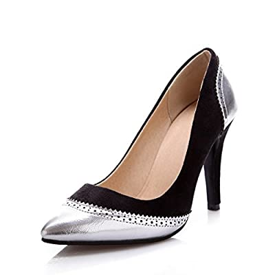 BalaMasa Womens Assorted Color Slip-On Spikes-Stilettos Rubber Pumps-Shoes