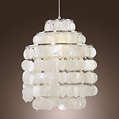 (USA Warehouse) Flush Mount Crystal Shell Pendant Lamp Chandelier Lighting Ceiling Girls Bedroom -/PT# HF983-1754388519
