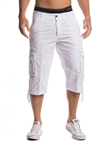 Uomini Capri Shorts 3/4 René ID1487, Farben:Blanco;Größe-Shorts:W32