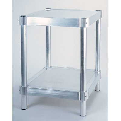 PVIFS N242424-2 Equipment Stand with 2 Adjustable Solid Shelves, 400 lbs Shelf Capacity, 24