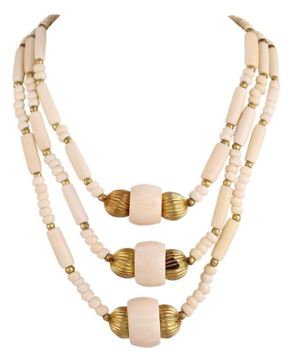 Sharnam Art Tribal / Ethnic master piece Necklace in off white color