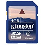Kingston 4GB SD SDHC Secure Digital High Capacity Memory Card For Canon PowerShot A470
