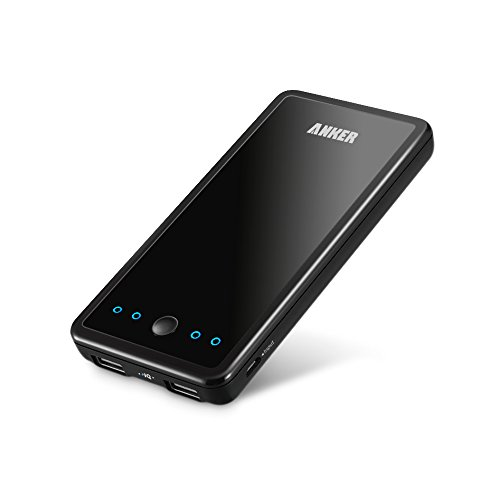 Anker® 2nd Gen Astro E3 10000mAh Dual-Port Ultra Compact External Battery Portable USB Charger Power Bank - PowerIQ™ Broad Compatibility, Fast Charging, High Capacity - For iPhone 5s 5c 5, iPad Air mini, Galaxy S5 S4, Tab 2, Note 3 2, LG G3, Nexus, HTC One M8, MOTO X, PS Vita and More (Black)