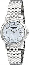 Raymond Weil Women's 5966-ST-00995 Tradition Diamond-Accented Stainless Steel Bracelet Watch