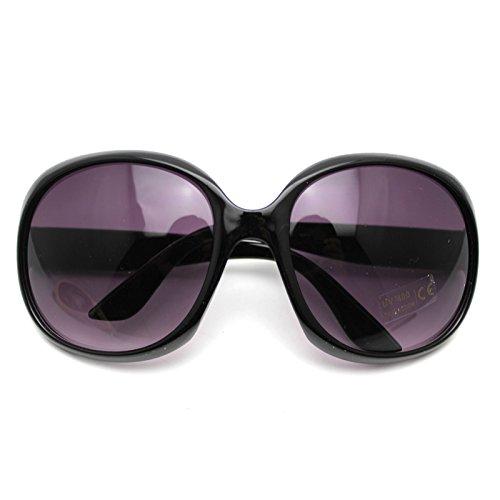 HuntGold Fashion Women's Sunglasses Retro Vintage Big Frame Goggles Shades Eyeglass(Black) (Womens Sun Shades compare prices)