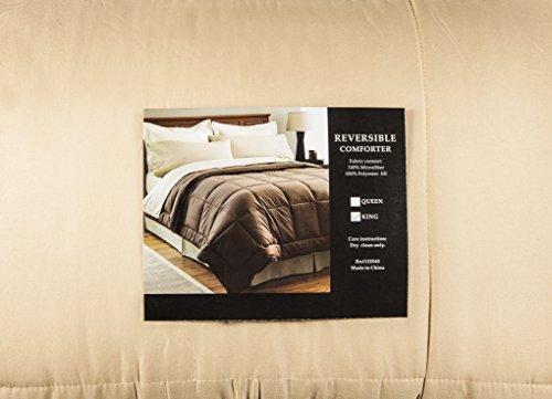 Comforter-Super Soft Reversable (Queen, Tan) front-447630