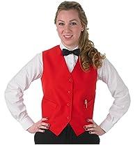 Henry Segal Vests for Women (med 38-40 bust, red)